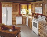 花こう岩の大理石のカウンタートップおよびステンレス鋼の流しが付いているホーム家具の提供の純木の食器棚
