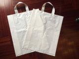 Kundenspezifische gedruckte Firmenzeichen-Plastikweste-Handtaschen-PlastikEinkaufstasche