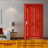 Porta de madeira do folheado do MDF de Sapele (GSP6-011)