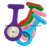 La nueva manera cuida el reloj del Fob del silicón del cuarzo con el calendario