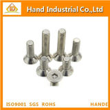 Tornillos de cabeza hexagonal de la cabeza de Csk del acero inoxidable de la alta calidad