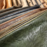 Retro PU Chaussure en cuir pour le sac à main (E6083)