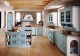 Gabinetes de cozinha da madeira contínua dos acessórios da cozinha do Mar Egeu