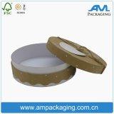 Biscoito Eco-Friendly do produto comestível que empacota a caixa lisa redonda do papel de embalagem de Brown