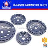 Roue de meulage de meulage de cuvette en métal de segment de double rangée de Huazuan