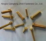Желтым болты с шестигранной головкой DIN933 покрынные цинком польностью продетые нитку тяжелые