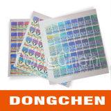 De in het groot Naar maat gemaakte Volledige Glanzende anti-Valse Sticker Van uitstekende kwaliteit van het Hologram