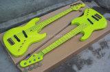 Hanhai Music / Fluorescent Green 5 cordes Bass électrique avec corps d'aulne