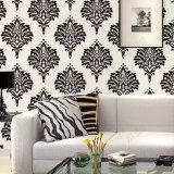 Hecho en papel pintado clásico del PVC de la flor del diseño del damasco italiano del estilo de China