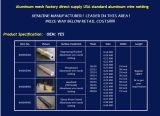 Windows di alluminio di diametro del mercato dell'India di 0.38mm