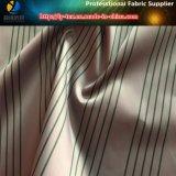 Alta densidad de poliéster raya satén tela teñida hilado para la chaqueta de Down