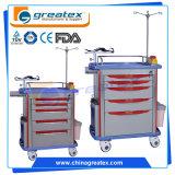 安い病院のABSプラスチック緊急のトロリー/医学のクラッシュのカート(GT-TA2813)