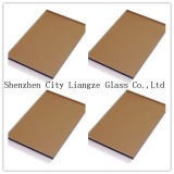 3mm-12mm Bronce Dorado cristal tintado&de vidrio de color para la decoración/edificio