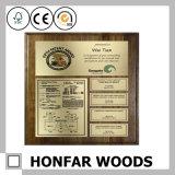 Blocco per grafici del certificato della cornice di legno solido dei blocchi per grafici della visualizzazione 2