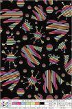 A tela Loving do poliéster do coração da impressão para o vestido do vestuário ensaca sapatas