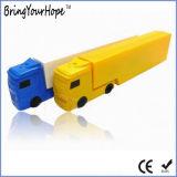 Movimentação do flash do USB da forma do caminhão no plástico (XH-USB-135)