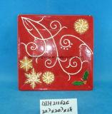 Piatto quadrato di ceramica dipinto a mano della caramella