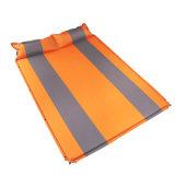 Mat inflable al aire libre plegable de playa con almohada