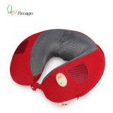 Espuma de memoria lenta en forma de u vibración masaje de cuello de la almohada