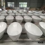 China mayorista de alimentación de la fábrica Óvalo Corian Superficie sólida bañera