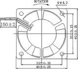 ventilatore senza spazzola di CC di 5/12/24V 40X40X20mm con le approvazioni