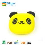 Panda Icon seda impresso pequeno saco de dinheiro, bolsa de moedas