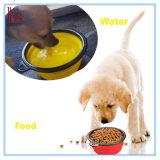 Het Water die van het Voedsel van de Kat van het huisdier de Draagbare Kom van de Reis Vrije Carabiner voeden