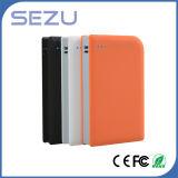 Alta batería de cuero anaranjada de la potencia del cuaderno de la textura de la capacidad 8000mAh del cable incorporado