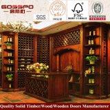 Шкаф вина домашнего шкафа вина дуба мебели твердого деревянный (GSP9-038)