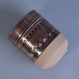 Handgemalter keramischer Kerze-Behälter mit Metalldem glasieren