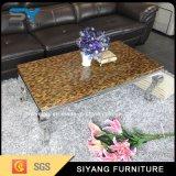Mobiliário de sala de café de mesa em mármore mesas de Metal