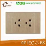 고품질 1gang 2 방법 3pole 전기 보편적인 벽 스위치 소켓