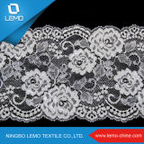 Tissu de lacet pour la robe de mariage, tissu de lacet de Chantilly à Dubaï