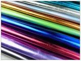 Couro artificial de cereais metálicos para sapatos, sacos, decoração, móveis, (HS-Y78)