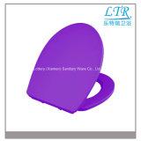 Soft Down Purple Color Ceramic Sanitary Ware Tampa do assento do banheiro