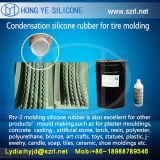 Molde de pneus de borracha de silicone líquido, platina e silicatos curados por condensação