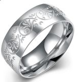 Hotsale Europe Fashion Jewelry Wholesale 316L Anel em aço inoxidável