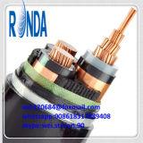 cabo elétrico isolado XLPE de cobre subterrâneo do núcleo de 8.7KV 10KV