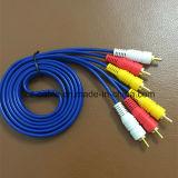 3RCA/3r Plug/Jack 3RCA/3r Plug/Jack de audio/AV/TV/DVD/Medios de Comunicación por Cable/Cable (3R-3R)