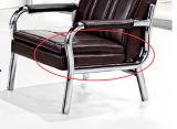 Sofa public de café de sofa de bureau de modèle moderne de loisirs de sofa populaire de cuir en stock