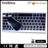 Alta calidad portátil mini ratón inalámbrico Bluetooth y teclado combinado