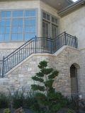 粉によって塗られる電流を通された階段塀