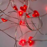 감미로운 빨간 심혼은 발렌타인 데이 건전지에 의하여 운영한 GF 선물을%s LED 끈 요전같은 램프를 형성했다