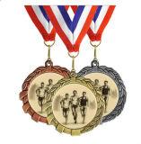 締縄が付いているカスタム実行賞メダル