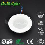 3W 2835 SMD LED de luz de techo Downlight con carcasa de plástico