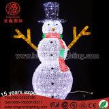 도매 방수 LED 3D 크리스마스 옥외를 위한 아크릴 플라스틱 주제 빛 금속 눈사람
