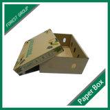 La parte superior e inferior de cajas de cartón ondulado