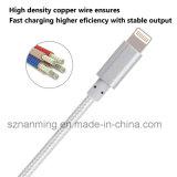 Кабель USB обязанности Sync кабеля данным по прочного металла Nylon Braided для iPhone