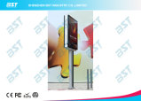 P6mm Street Light Pole Double Side Publicité Écran LED