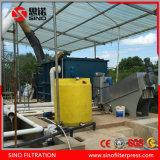 La déshydratation des boues filtre-presse, filtre à vis en acier inoxydable Appuyez sur pour le traitement des eaux usées